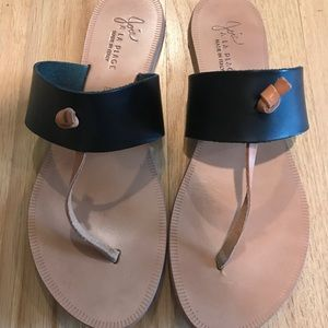 Joie Black and Tan Sandals Size 40 Worn 2x